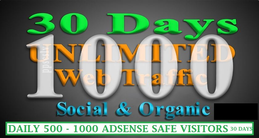 Get UNLIMITED Targeted WEB TRAFFIC Daily 1000