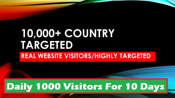 1000 Daily Real Human Website Traffic for 10 days