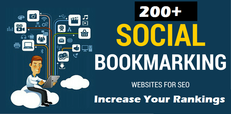 Your Site Will Be Added to 200+ SEO Social Bookmarks High Quality Backlinks,  RSS and Ping