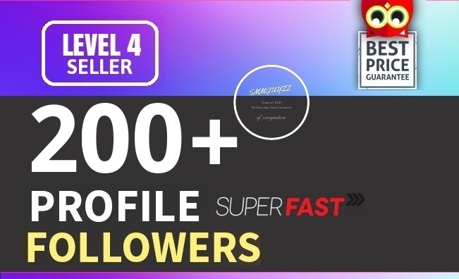 Add 200+ High Quality Fast Profile Followers