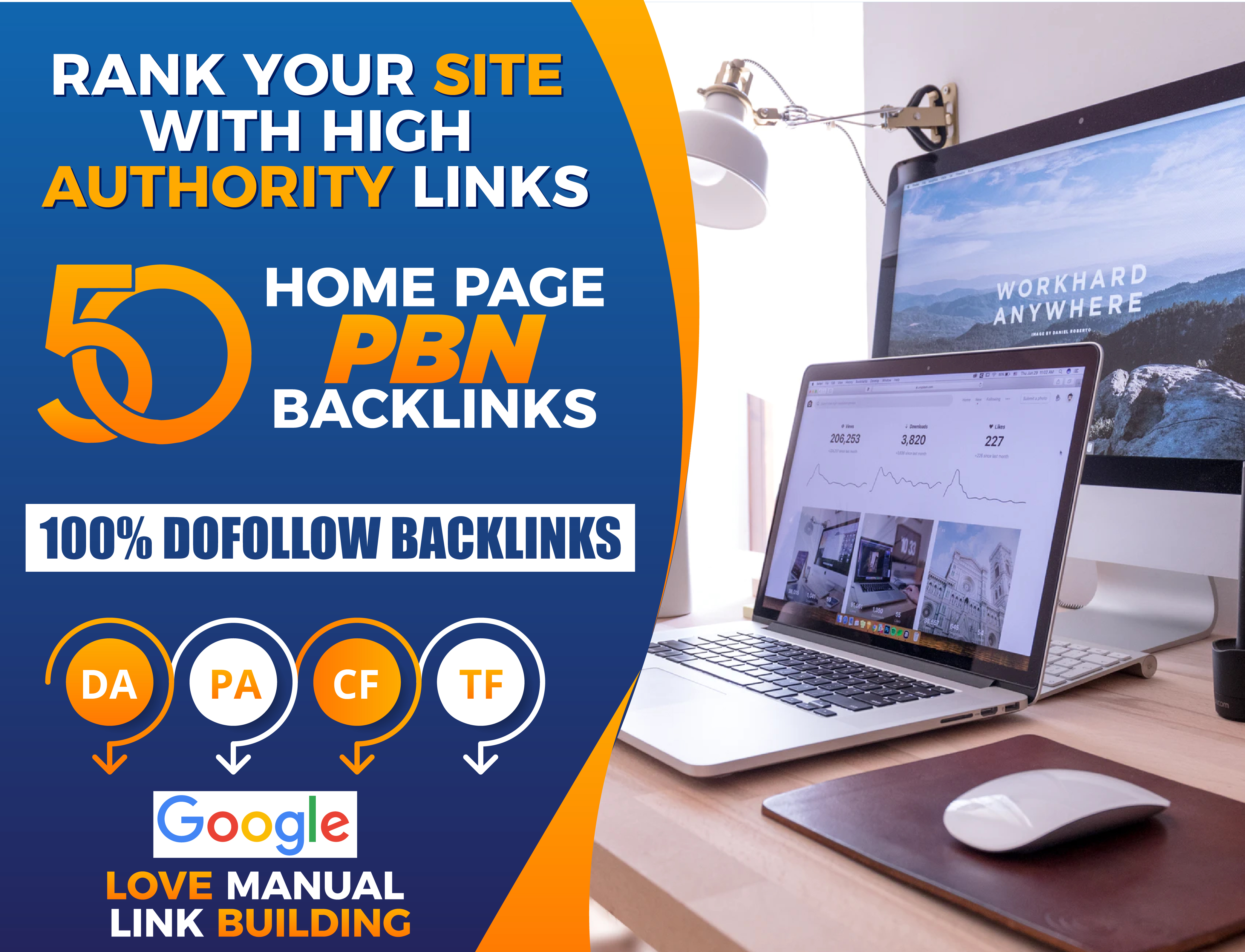Build 50 high da pa tf cf homepage pbn backlinks permanent posts