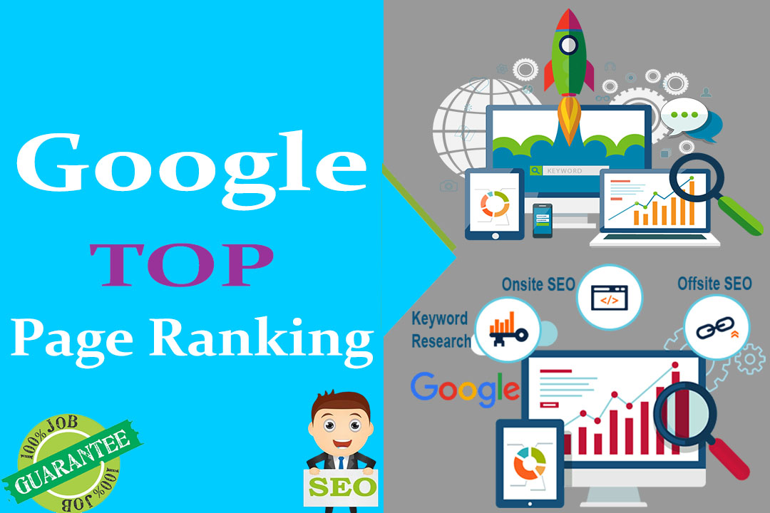 Google TOP Page Ranking on your Website,  Web page & Video.