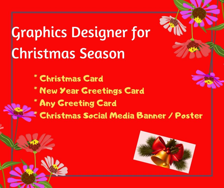Design A Greetings Card Or Social Media Banner For Christmas or New Year