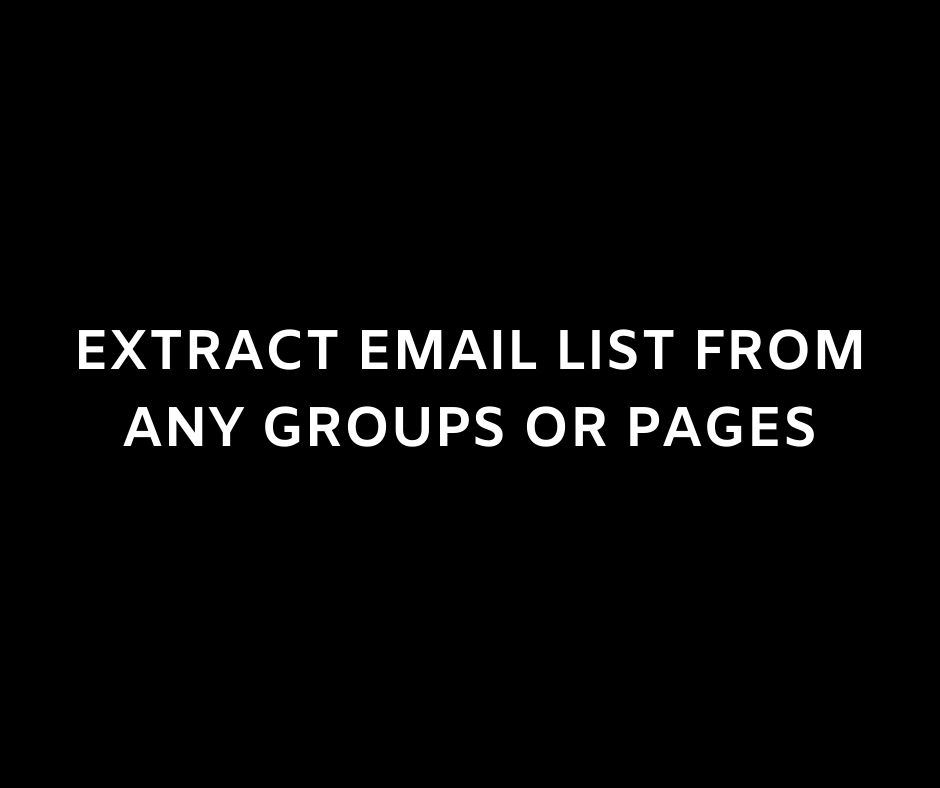 Email List Extraction Service