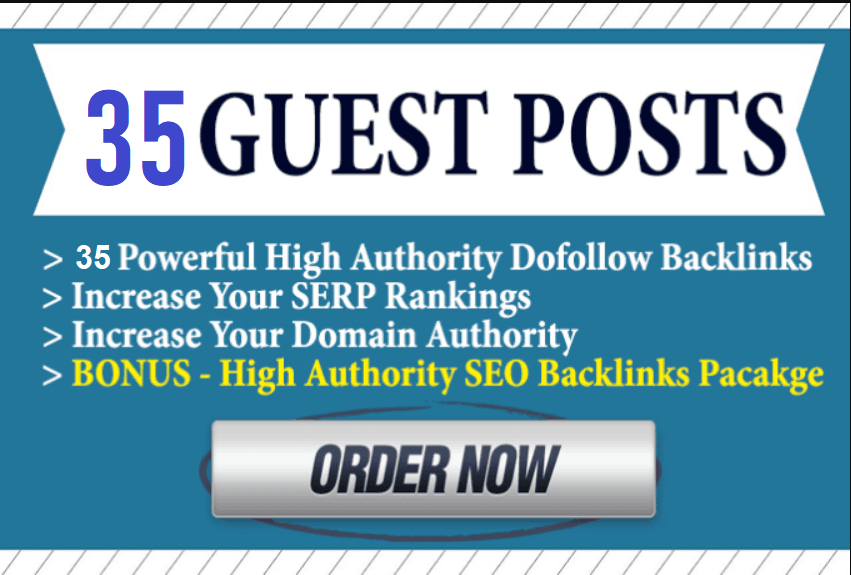 35X High Quality Authority Guest Post Write & Publish DA 40 to 99+ Limited Time Offer