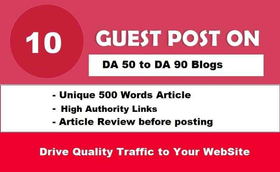 Write and Publish 10X EDU Guest Posts DA 60-90+ with High Authority Backlinks (Limited Offer)
