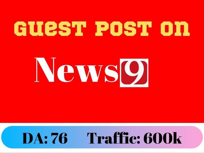 News Guest Post on DR76 Traffic 600k Dof0llow Blog News9. com
