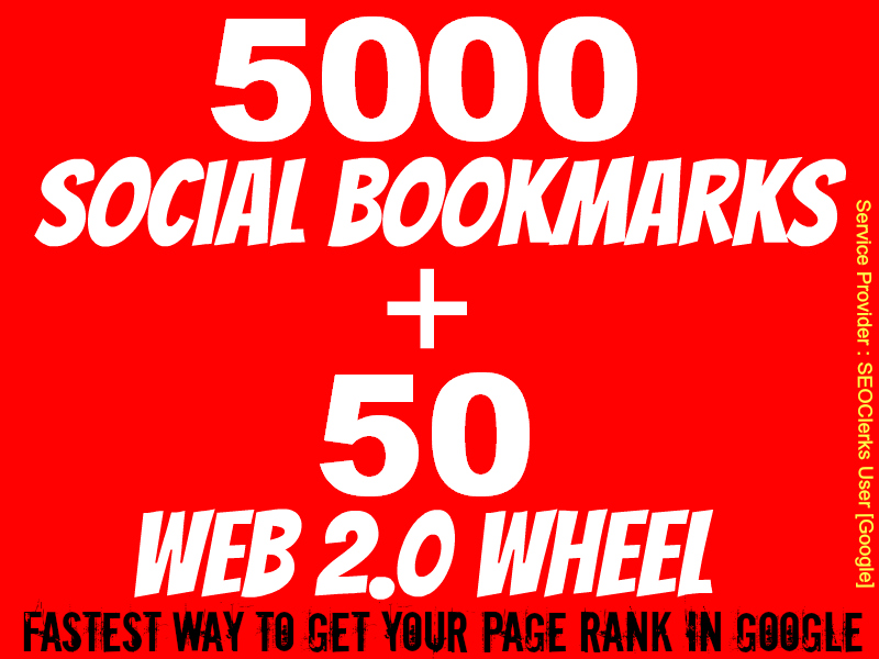 Give You All in One SEO - 5000 Social Bookmark and 50 We... for $110