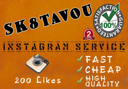 send you 200 instagram likes to your picture . for $14