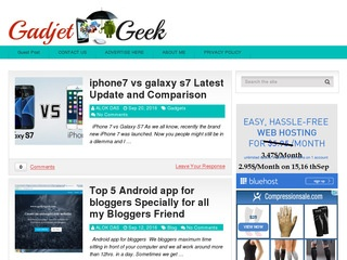 Gadjet Geek BLOG Review with DA 24 PA 34 Sponsored Blog Review