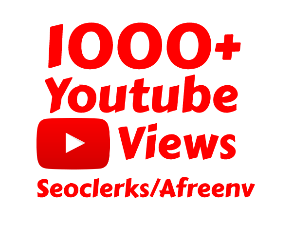 I will add Fast 1000 High Quality Youtube vie ws