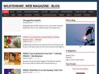 MilkyDwarf, Web Magazine - Blog. Sponsored Blog Review