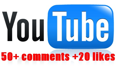 give you Fast 50+ youtube comments +20 likes