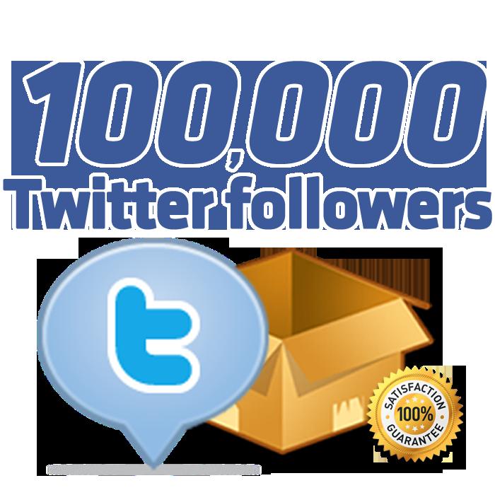 instant 100,000+ Twitter Followers