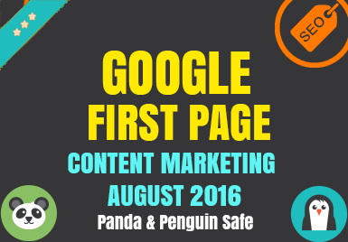 Guaranteed Google 1st Page - With Content Marketing - November Update
