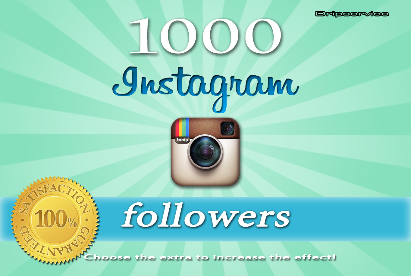 I will Get you 1000+ Instagram followers only or photo l... for $2