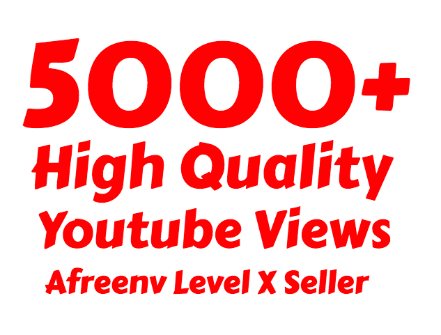 i will add 5000+ High Quality Youtube views