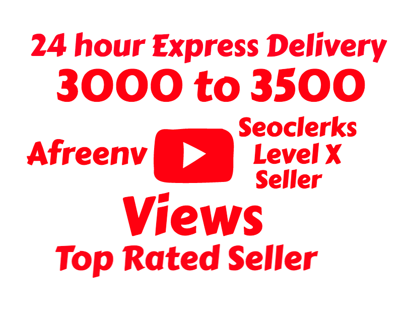 i will add 3000 To 3500+ High Quality Youtube views