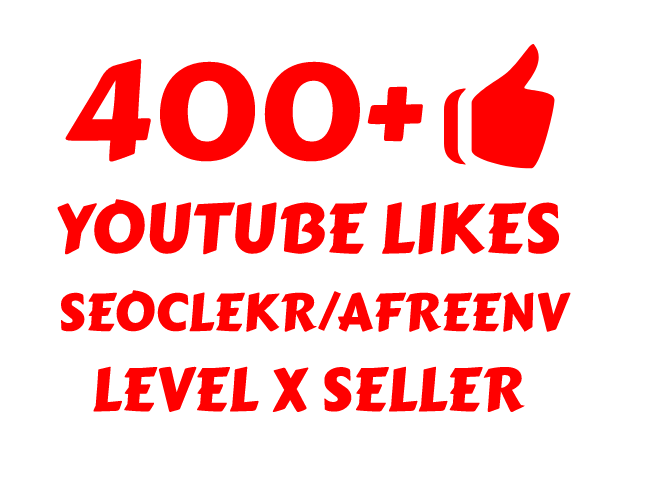 i will add 400+ YOUTUBE LIKES