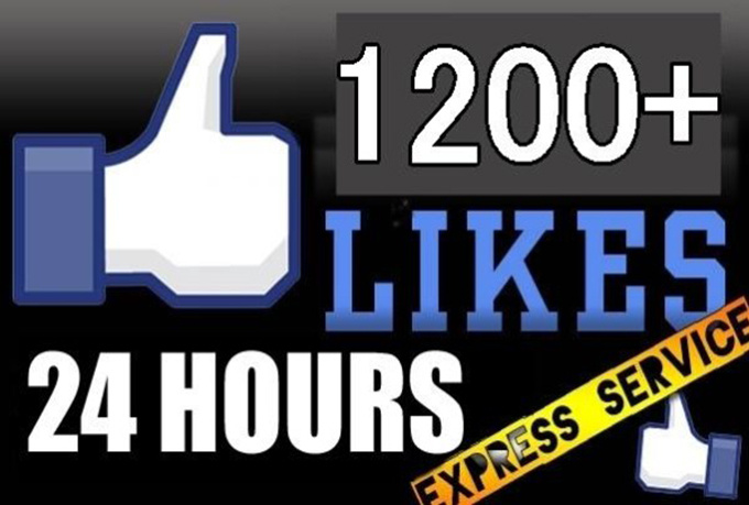 Provide 1200+ Real FACEBOOK Likes or 500 INSTAGRAM FOLL... for $1