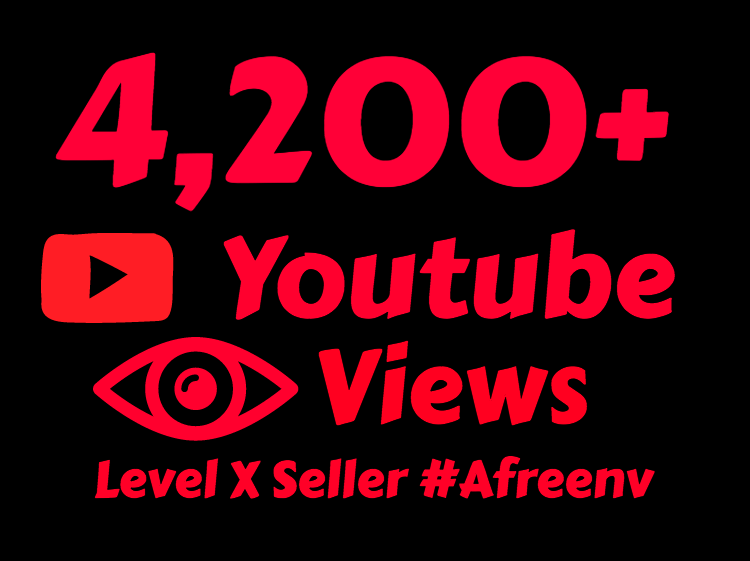 i will add 4200 to 4500+ High Quality Youtube views
