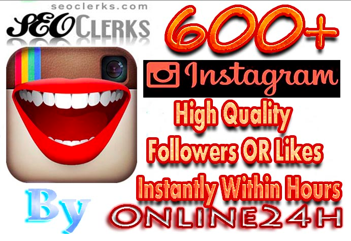 i will add instant 600 Hight Quality Instagram Followers or Photo Likes