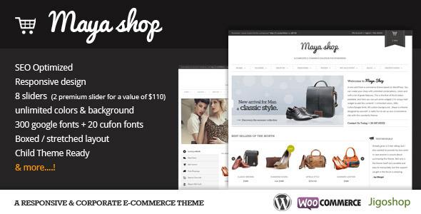 give you MayaShop Woocommerce Theme