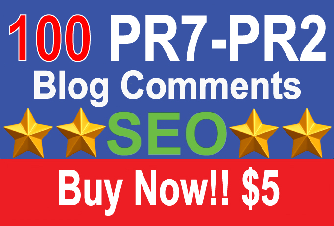 100 PR7 Dofollow Blog Comments