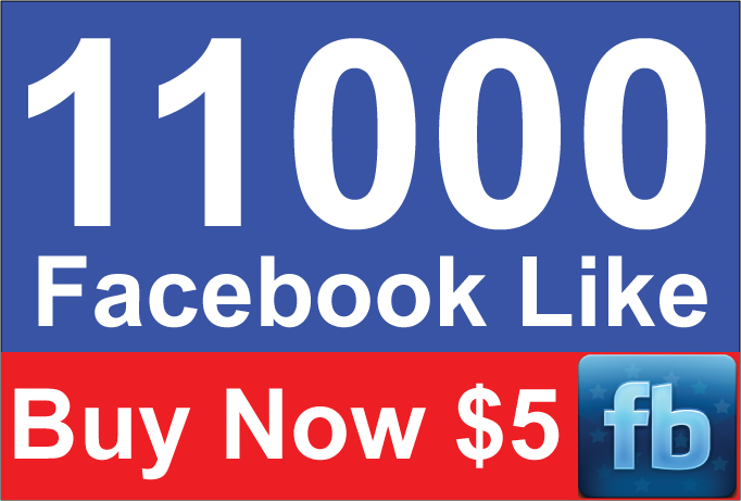 Add 11,000 Active Facebook Likes within 24 Hours for $5