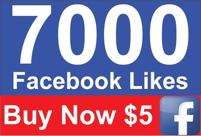 Add 7,000 Active Facebook Likes within 24 Hours for $5