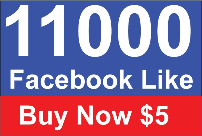 Give you 11,000 Real Active People Facebook Likes for $5
