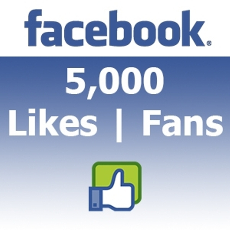 Give you 5000 Real Active People Facebook Likes