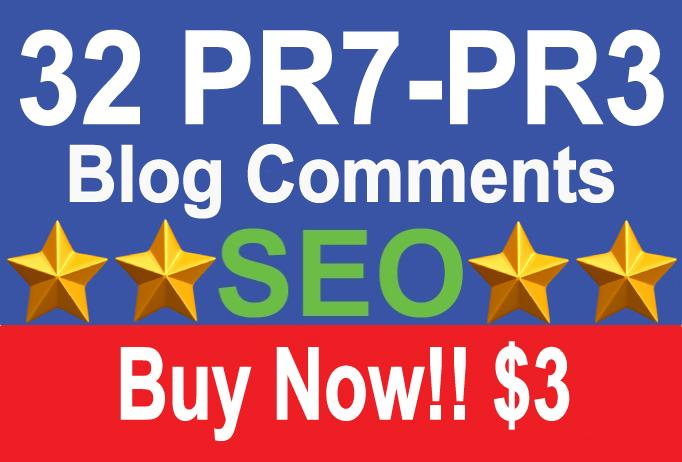 1 PR7, 2 PR6, 5 PR5, 14 PR4, 10 PR3, Do Follow Comments (Actual PR Pages)