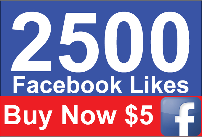Add 2500 Active Facebook Likes within 24 Hours for $5
