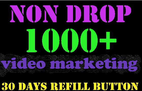 Get Fast & social media promotion & organic 1000 video marketing within 24 hours for