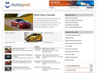Artilce Post on autos blog Autospost. com Sponsored Blog Review