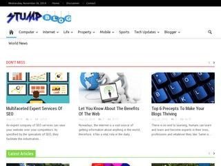 Guest Post on Stumpblog PR 4 DA 43 Website Today