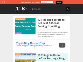 TricksRoad- A Blogging and Marketing Blog Sponsored Blog Review