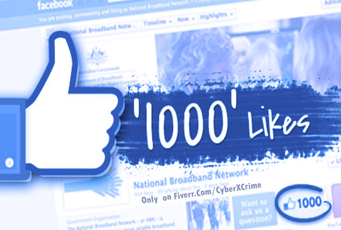 get you 1,000 Real and Permanent World Wide Facebook Likes to your page