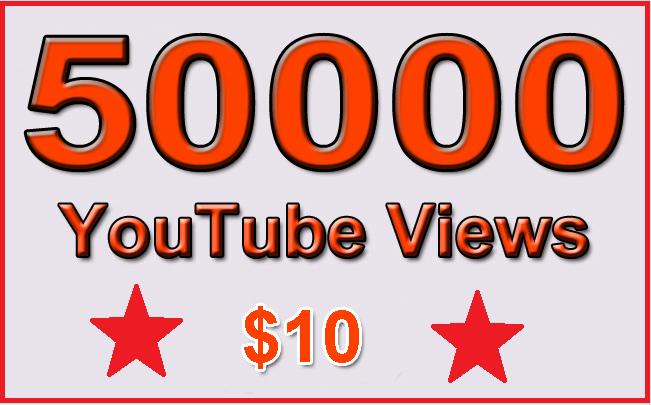50000 Non Drop YouTube Views