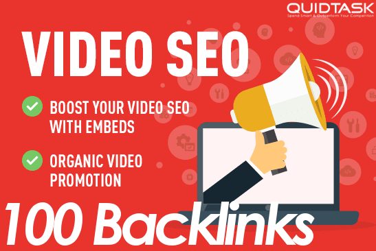 100 Video Backlinks and 100 Embeds Organic Promotion that will bring organic views and likes