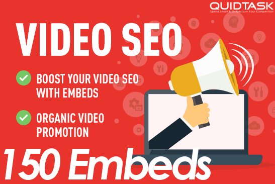 150 Video Embeds Organic Promotion that will bring organic views and likes - Video SEO and Ranking
