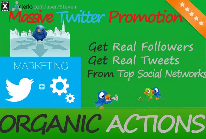 Do MASSIVE Organic Twitter Promotion