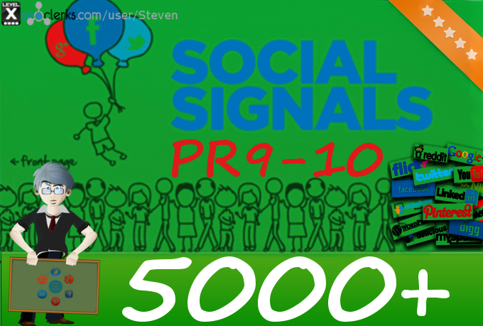 5000 POWERFUL Social Signals plus EXPOSURE to 500,000 Fans And Followers
