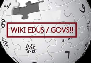 Deliver 9306+ contextual wiki Backlinks from 3102+ Unique WIKI domains, including edu