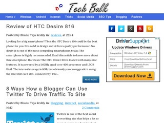 Tech Bulk is all about latest technology. Sponsored Blog Review