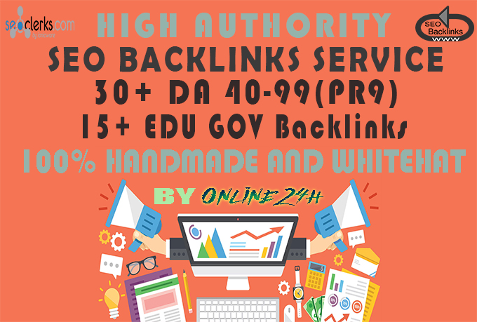 30+ PR9 + 15+ .EDU/.GOV Backlinks From Authority Domains only