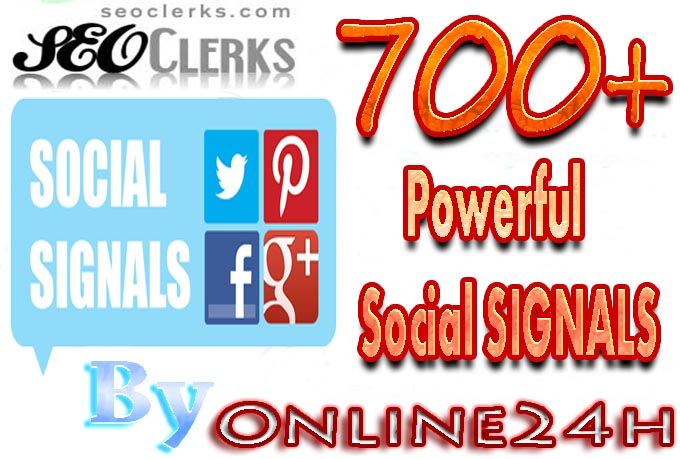 Build 700+ Powerful Social SIGNALS  on Your Site from Top Social Sites