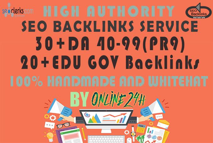 30+ PR9 + 20+ .EDU/.GOV Backlinks From Authority Domains only