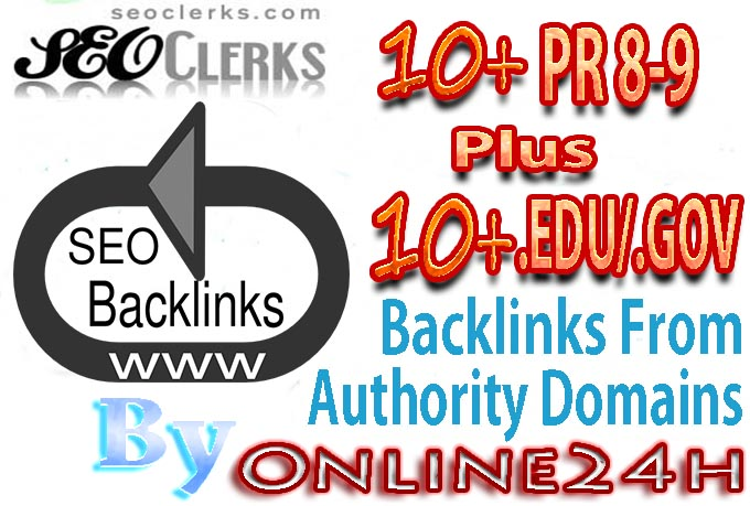 10+ PR8-9 + 10+ .EDU/.GOV Backlinks From Authority Domains only